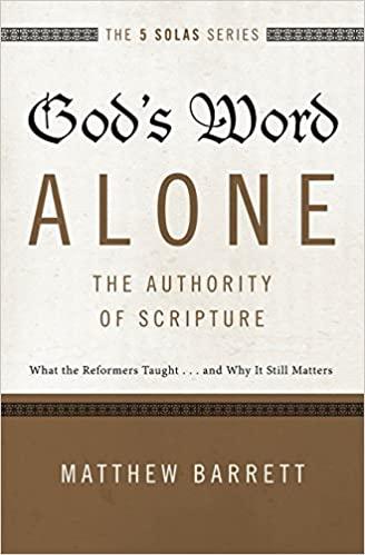 Gods Woord alleen. Het gezag van deSchrift